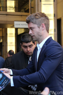 Luke Mitchell signing autographs