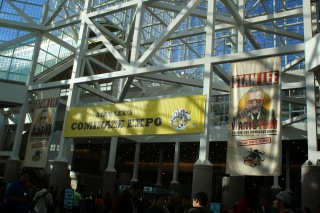 Banners in the south hall