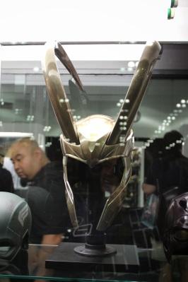 Loki\'s Helmet on display at Stan Lee\'s Comikaze 2014