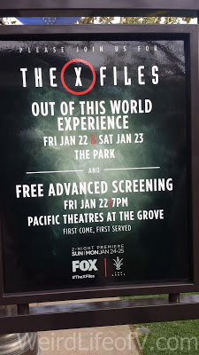 Sign near the theater advertising the event