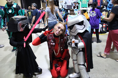 Kylo Ren and Captain Phasma kids\' cosplay at LBCC 2016