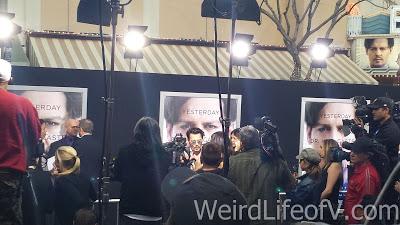 Johnny Depp being interviewed