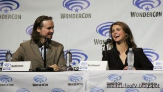 Matt Reeves and Keri Russell at the Dawn of the Planet of the Apes panel