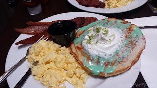 My Ghostbusters themed breakfast, slimer pancakes