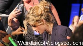 Emily Bett Rickards signing autographs
