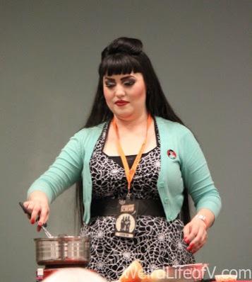 The Homicidal Homemaker, Kaci Hensen, cooks hotdogs