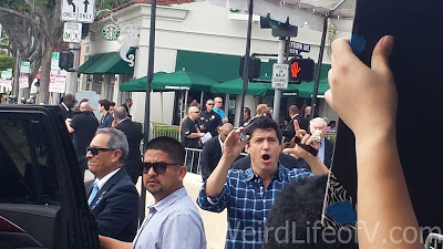 Ken Marino surprised by a fan\'s sign