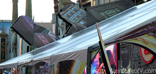 Top of the tent covering the red carpet for the Doctor Strange Premiere in Hollywood