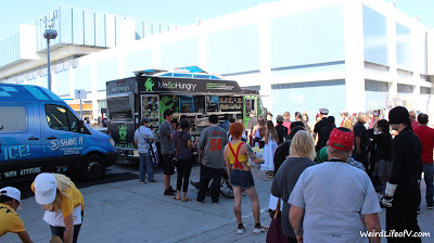 Food trucks behind the LA Convention Center between South and West halls - Stan Lee\'s Comikaze Expo 2015