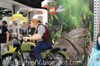 Jurassic World Lego statues
