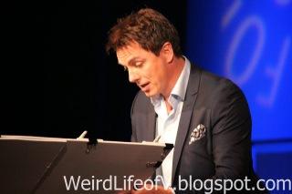John Barrowman signing autographs
