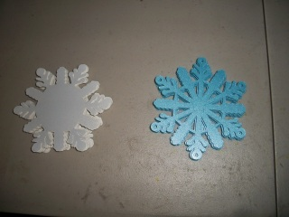 Cut snowflake shapes