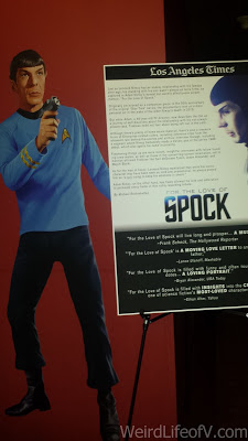 Sign in the lobby of the Egyptian Theatre about For the Love of Spock