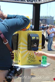 Free sunscreen dispenser!