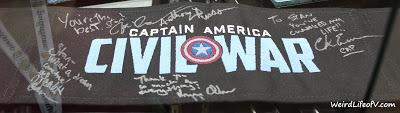 Captain America: Civil War signed chair back