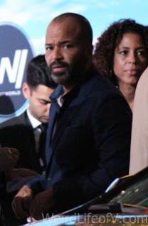 Jeffrey Wright arrives at the Westworld red carpet premiere in Hollywood.