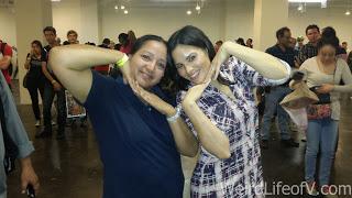 Fun pose with Katrina Law
