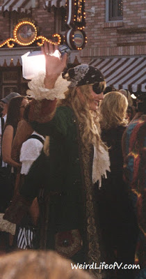 Daryl Hannah dressed as a pirate at the Pirates of the Caribbean premiere