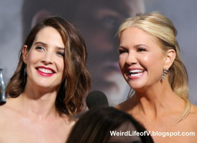 Cobie Smulders with Nancy O\'Dell
