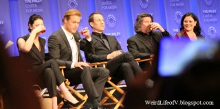 The panel taking sips of whisky