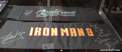 Avengers and Iron Man 3 signed chair backs