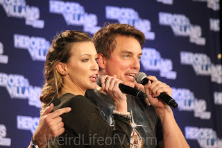 Katie Cassidy and John Barrowman