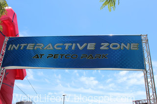 Entrance banner for the Petco Park Interactive Zone