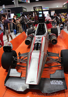 Star Wars themed race car on the exhibition floor at SDCC 2016
