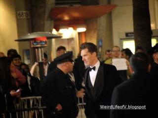 Benedict Cumberbatch arriving to premiere.