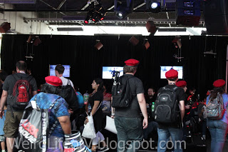 Lounge area inside Nerd HQ - Outside  San Diego Comic Con 2015