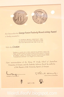 George Foster Peabody Award Certificate - Charles M. Schulz Museum