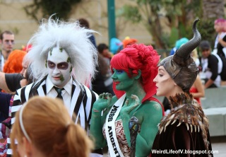 Beetlejuice and Maleficent cosplays