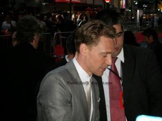 Tom Hiddleston signing autographs