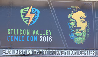 Banner advertising SVCC outside the San Jose Convention Center