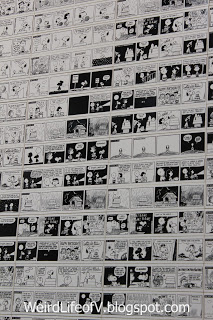 Comics printed on the ceramic tiles used to make the mosaic - Charles M. Schulz Museum
