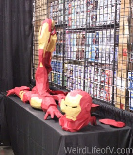 Some of the pieces waiting to be attached to the Iron Man form