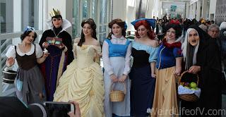 Cosplays of various female Disney characters