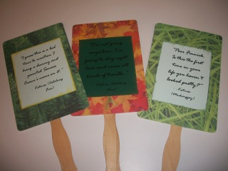 DIY hand fans with Hunger Games movie quotes - Katniss Everdeen