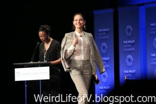 Willa Holand walking on stage