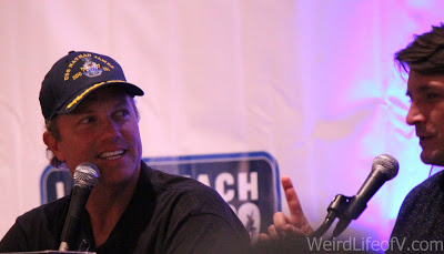 Adam Baldwin and Nathan Fillion at the Firefly Reunion panel at LBCC 2016