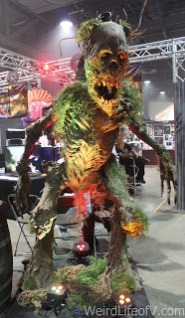 One of many creatures on display on the exhibition floor