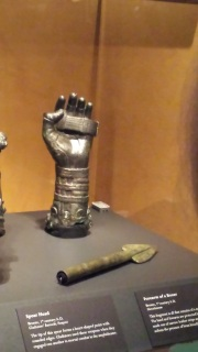 Gauntlet and spear head
