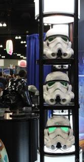 Stormtrooper helmets on display