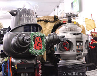 Lost in Space robot replicas on display