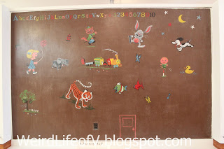 Original wall Schulz had painted in his daughter\'s nursery