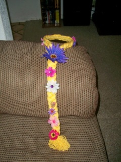 First completed Rapunzel braid