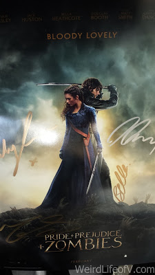 Signed poster of Pride and Prejudice and Zombies