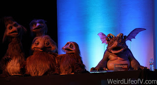 A few of the puppets on display during the Jim Henson Creature Shop panel