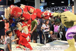 Lego Hulkbuster fighting Lego Hulk