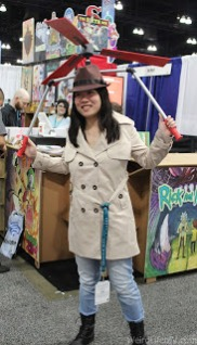 Inspector Gadget cosplay and the propeller is motorized!